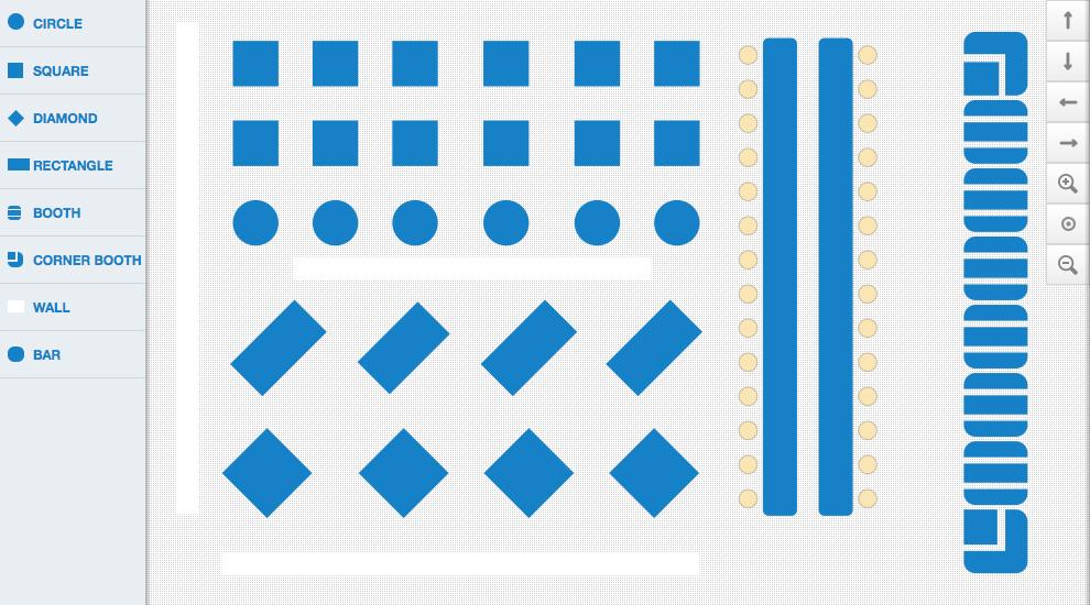Ideal A plex restaurant floor plan layout